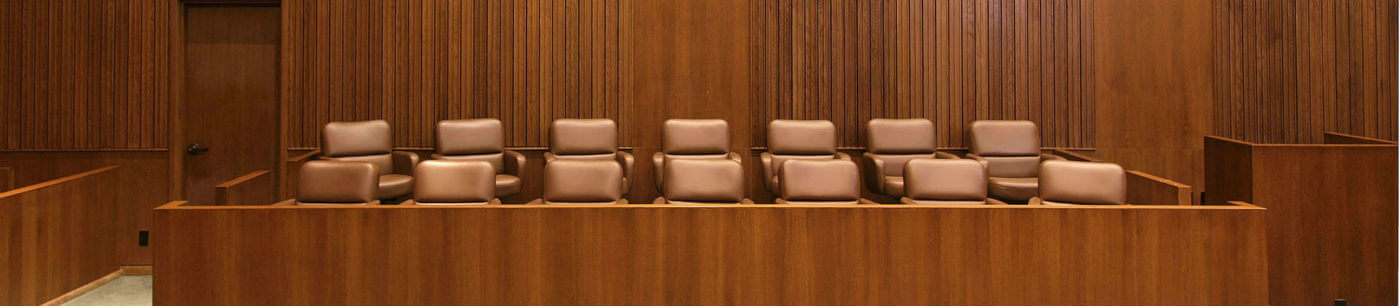 Image of a courtroom for an employment law case